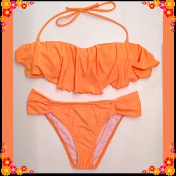 O'Neill Other - NWT O'Neill Orange Bandeau Bikini